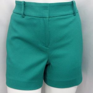 GREEN TEXTURED CASUAL SUMMER SIGNATURE FIT SHORTS